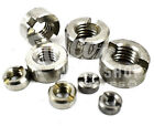 A2 STAINLESS STEEL SLOTTED ROUND NUTS DIN546 M2 M3 M4 M5 M6 M8 M10 M12 METRIC
