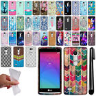 For LG Leon C40 Tribute Duo H320 Cute Design TPU SILICONE Case Phone Cover + Pen