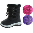 Moda Essentials Jet Toddler Girl's Waterproof Nylon Winter Snow Boots