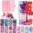 Wallet W/strap Leather Magnetic Flip Cards Stand Case Cover For Samsung Galaxy