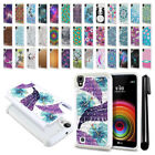 For LG X Power K6 US610 LS755 Anti Shock Studded Bling HYBRID Case Cover + Pen