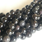 Wholesle Natural Genuine Rainbow Ice Claer Obsidian Round Loose Beads 4-20mm Big