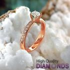 Natural Diamond Engagement Ring 14k Gold Jewelry 1.09 CT SI/F-G Size 6 Enhanced