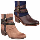 Divaz Vado Faux Suede Ankle Womens Pull On Zip Up Fashion Boots Shoes UK3-8