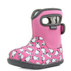 Kids Infant Bogs Baby Penguins Pink Multi Waterproof Wellies Boots Size