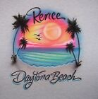 BEACH SCENE AIRBRUSH T SHIRT PERSONALIZED  NEW S, M, L, XL YOUTH AND ADULT