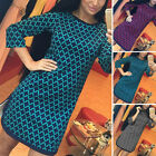 Womens Party Bodycon Dress Ladies Long Sleeve Evening Cocktail Dress Size 8-16