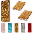 Rubber Bling Glitter Soft TPU Slim Gel Cover Case For iPhone 5S 6 6S 7 Plus SE X