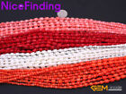 3-6mm Graduated Coral Stone Beads For Jewelry Making Necklace Bracelet 15'' DIY