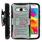 For Samsung Galaxy Core Prime G360 Clip Stand Case + Tempered Glass Deer Hunting