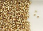 12K Gold Filled 2x2mm Twist Tube Spacer Beads, Choice of Lot Size