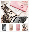 New Luxury Lace Clear Stand Ring Finger Holder Case Cover For iPhone 5 6S 7 Plus