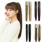 Womens Long Straight Hair Extension Claw Ponytail Clip In Hairpiece Ombre Color