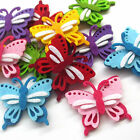 24/120pcs Padded Felt Colorful Butterfly Appliques Wedding Craft Mix Lots A0533