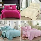 Quilted Coverlet / Bedspread Set King / Queen Size Bed 100%Cotton 230x250cm AC06