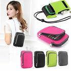 New Mobile Cell Phone Case Money Belt Neck Strap Zip Card Holder Pouch Wallet UK