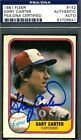 GARY CARTER PSA/DNA AUTHENTICATED SIGNED 1981 FLEER AUTOGRAPH