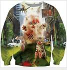 New Mens/Womens City cat funny 3D Print casual Sweatshirt Hoodies Pullover MN25