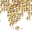 100 OR 1000 Gold Plated Brass Smooth Round Beads  ~ 3mm