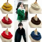 New Ladies Women Wool Knit Winter Warm Knitted Neck Circle Cowl Snood Scarf LA