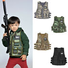 Military Army Children Kids Taticals Vest Combat Cosplay Police SWAT Assult Team