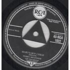 "HARRY BELAFONTE Mary's Boy Child 7"" VINYL Bourne Music Credit All On One Line"