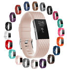 2Style Sports Silicon Rubber Wrist Strap Band w/Metal Buckle For Fitbit Charge 2