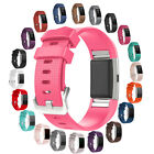 30+ Colors Large/Small Replacement Bangle Strap Band w/Clasp For Fitbit Charge 2