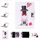 Rose Pug Dog Printed Wallet PU Leather Book Stand Case Cover For Ipad Samsung