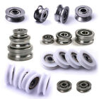 U / V Grooved Ball Bearings Metal Shield/ Nylon/ Pulley Wheels Wire Guide Roller