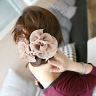 1PC New Fashion Chiffon Rose Flower Bow Jaw Clip Barrette Women's Hair Claw