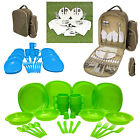 2 or 4 Person Picnic Set Rucksack Shoulder BBQ Bag Family Dining Dinner Backpack