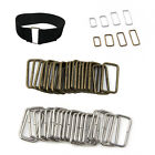 Внешний вид - 20pcs Belt/Bag Buckles Metal Wire Rectangle Ring Loops Strap Adjuster