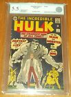 INCREDIBLE HULK #1 EGC GRADED CONSERVED ( 5.5 ) OFF WHITE PAGES EURO GRADER