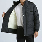 Men's Casual Down Coats Cotton-Padded Hooded Jackets Thick Parka Outwear XL-3XL