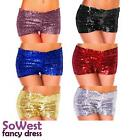 Womens Sexy Sequin Casual Night Party Stretch Hotpants Shorts Hot Pants Bott UK