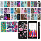 For LG Leon C40 Power L22C Destiny L21G Tribute 2 HARD Back Case Cover + Pen