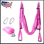 Anti-Gravity Inversion Yoga Therapy Aerial Trapeze Swing Hammock Flying Sling US