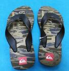 New approx size 12 QUIKSILVER designer boys flip flops shoes sandals green camo