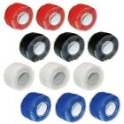 3 x - SILWELD Red Black White Blue Coloured Silicone Self Fusing Repair Tape