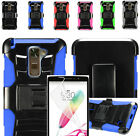 Film LCD+2Layer Case Cover w/Stand+Holster For LG Stylo 2/ Stylo 2 V / Stylus 2