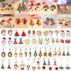 2017 Cute Women Christmas Jewelry Snowflake Candy Ear Stud Earrings Xmas Gifts