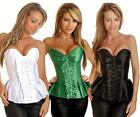 Strapless Satin Pleated Burlesque Corset Top  -Size  S M L XL2XL