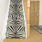 Zebra Black - Stair Carpet Runner For Narrow Staircase Animal Print Quality New