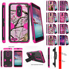 For ZTE Z MAX PRO | ZMAX Pro Carry Z981 Holster Clip Pink Case Shock Combo