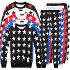 Men Women Youth Full of Stars Sweatshirt Tops Jogger Tracksuit Baggy Pants