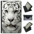 White Tigers Universal Folio Leather Case For Linx Tablets