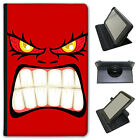 Monster Faces Universal Folio Leather Case For Linx Tablets