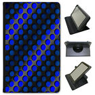 Abstract 3D Wave Universal Folio Leather Case For Samsung Tablets