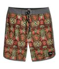 Quiksilver Mens Abstract-Print Swim Bottom Board Shorts